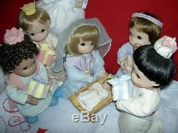 Precious Moments Nativity (complete set of 9) Holy Family 12 dolls +accessories