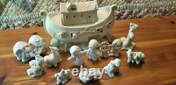 Precious Moments Noah's Ark 12 Piece Set Includes Rare A Tail Of Love Figurines