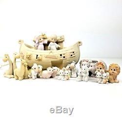 Precious Moments Noah's Ark 13 Piece Set 1992 Enesco Porcelain Collectibles Euc