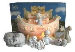 Precious Moments Noah's Ark 8 pc Set Nightlight Original Boxes Bible Story 1992