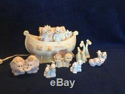 Precious Moments Noah's Ark Two by Two, 12 pc Set With Lions, & Nightlight
