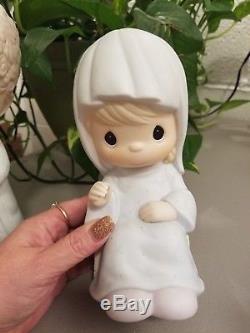Precious Moments O Come Let Us Adore Him 111333 Very Rare 9 Nativity Set/$275
