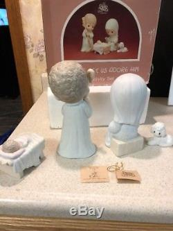 Precious Moments O Come Let Us Adore Him Large 9 Dealers Excl. Nativity Set