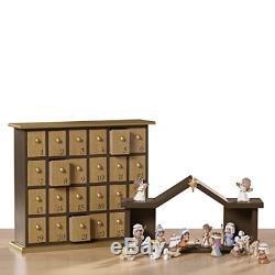 Precious Moments O Come Let Us Adore Him Nativity Advent Calendar Set FREE SHIP