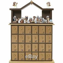 Precious Moments O Come Let Us Adore Him Nativity Advent Calendar Set of 26