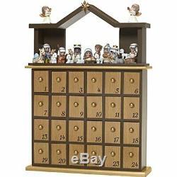 Precious Moments O Come Let Us Adore Him Nativity Advent Calendar (Set of 26)
