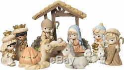 Precious Moments O Come Let Us Adore Him Nativity Figurine with Creche 181034