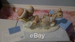 Precious Moments RARE I Will Be Glad And Rejoice in You Limited Edition NIB