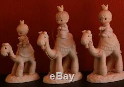 Precious Moments-Regular/Large Nativity Additions Three Kings On Camels SIGNED