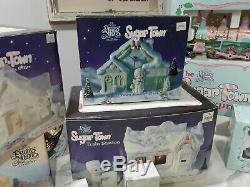 Precious Moments Sugar Town Complete Set With Holiday Train Set Many Extras. Wow
