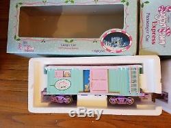 Precious Moments Sugar Town Express Holiday Train Set + Cargo & Passenger Car