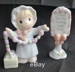 Precious Moments Sugar Town Lighted Post Office Complete Set