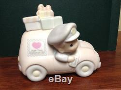 $ Precious Moments Sugar Town Post Office Set Collectable Christmas
