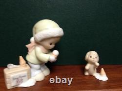 $ Precious Moments Sugar Town Post Office Set Collectible Christmas