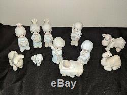Precious Moments The Nativity Porcelain Nativity Set With Storybook 1982 E2395