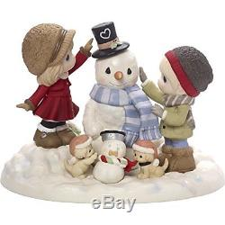 Precious Moments Top It All Off With Love Limited Edition Couple With Snowman B