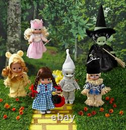 Precious Moments Wizard of Oz 7 Doll Decor Collectible Figures Figurines Set