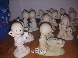 Precious Moments figurines Original 21, No mark, withbox Great, RARE