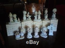 Precious moments LOT OF 10 GOD LOVETH A CHEERFUL GIVER