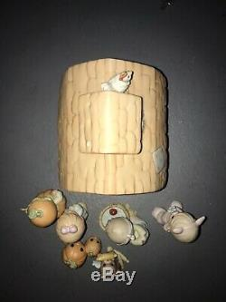 Precious moments figurines. Fall Festival. 7 Piece Porcelain With Lighted Barn