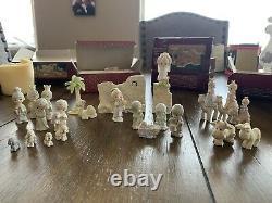 Precious moments miniature pewter nativity