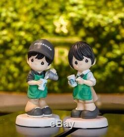 RARE BNIB 2019 STARBUCKS Singapore PRECIOUS MOMENTS Barista Boy Girl Figurine