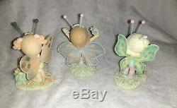 RARE Precious Moments figurines Hamilton collection Butterflies lot of 3 2003