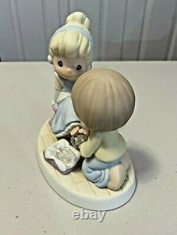 Retired Rare Precious Moments Disney Figurine Your Love Is A Perfect Fit withBox