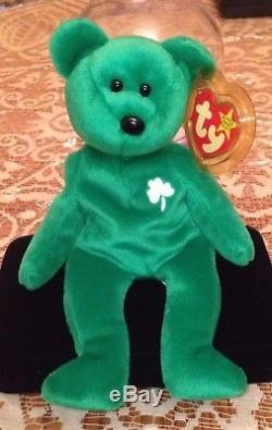 Retired Very Rare Ty Beanie Baby Irish Erin Shamrock Handmade China 1997 400