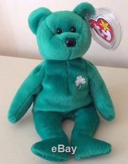 bd1cdb5447a Retired Very Rare Ty Beanie Baby Irish Erin Shamrock Handmade China 1997   400