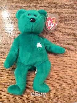 7e76edbd8a1 Retired Very Rare Ty Beanie Baby Irish Erin Shamrock Handmade China 1997   416