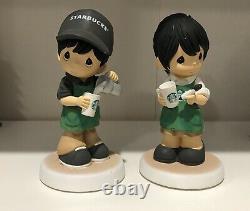 Starbucks Precious Moments Singapore Exclusive Barista Boy and Girl Figurines