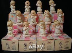 T Precious Moments-Complete Set of 12 Birthstone Monthly Girls