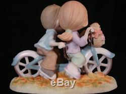 T Precious Moments-Couple Riding A Bicycle Built For Two-Huge LE-Very Rare