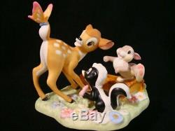 T Precious Moments-Disney-Bambi-Thumper & Flower-The Little Joys Of Life-V RARE