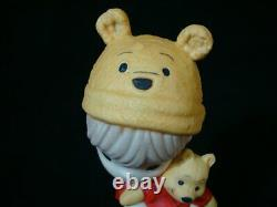 T Precious Moments-Disney-Boy/Girl withWinnie the Pooh Doll/Ears/Hat-RARE SET OF 2
