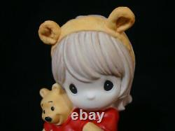 T Precious Moments-Disney-Girl Holding Pooh-Hunny, There's Nobody Sweeter Than U