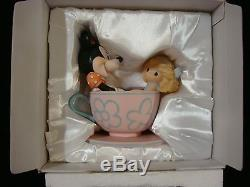T Precious Moments-Disney-U Are My Cup Of Tea-Minnie Mouse withGirl On Teacup Ride