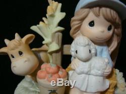 T Precious Moments-Rare Set Of 2-LE/1200 Worldwide-FFA Exclusive-Farmer Girl+Boy