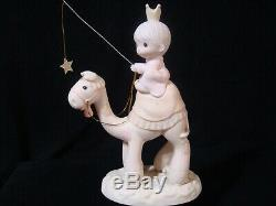 T Precious Moments-Regular/Large Nativity Additions-Three Kings On Camels-$475V