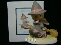 T Precious Moments-Wizard Of Oz-Witch Of The West On Broomstick VERY RARE