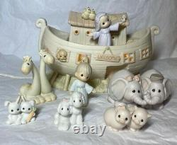 The Enesco Precious Moments Collection Two By Two Noahs Ark 1992 Night Light