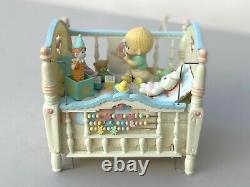 VTG 1993 Precious Moments Collection Heaven Bless you Music Box Brahms Lullaby