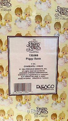 Very Rare Vintage Precious Moments Piggy Bank, 1994 Enesco Collection #135569