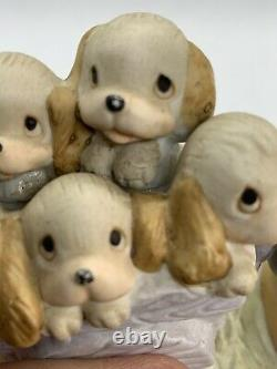 Vintage 1977 Precious Moments Free Puppies God Loveth a Cheerful Giver Enesco