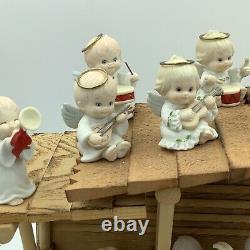 Vintage 1980 Precious Moments Nativity 13 Figurines Manger Bonus Angels Read