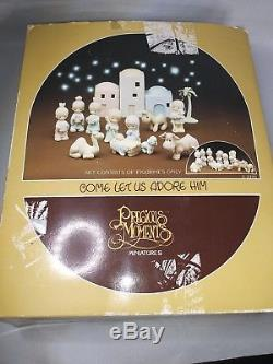 Vintage Precious Moments Nativity Scene Set Christmas Religious Holidays 11 pcs