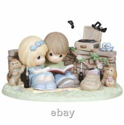 You Spin My World Around Precious Moments Record Player Figurine Dogs Cola NWOB