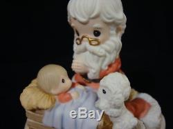 Yq Precious Moments-Santa Kneeling By Manger-How Great Thou Art-VERY RARE