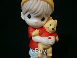 Zb Precious Moments-Disney-Boy Holding Pooh-Hunny, Nobody Sweeter Than You-Cute